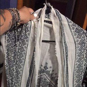 Worn once cream AE one size shawl/cover up